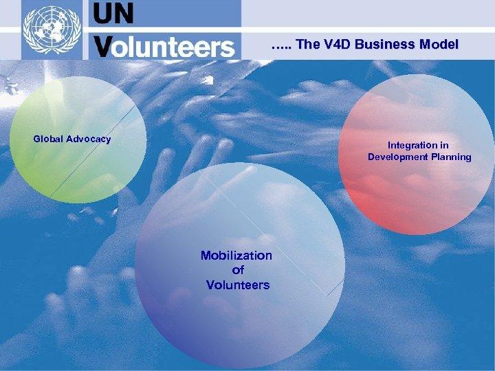 …. . The V 4 D Business Model Global Advocacy Integration in Development Planning