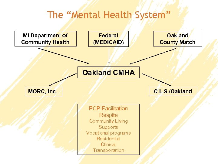 """The """"Mental Health System"""" MI Department of Community Health Federal (MEDICAID) Oakland County Match"""