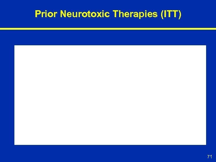 Prior Neurotoxic Therapies (ITT) 71