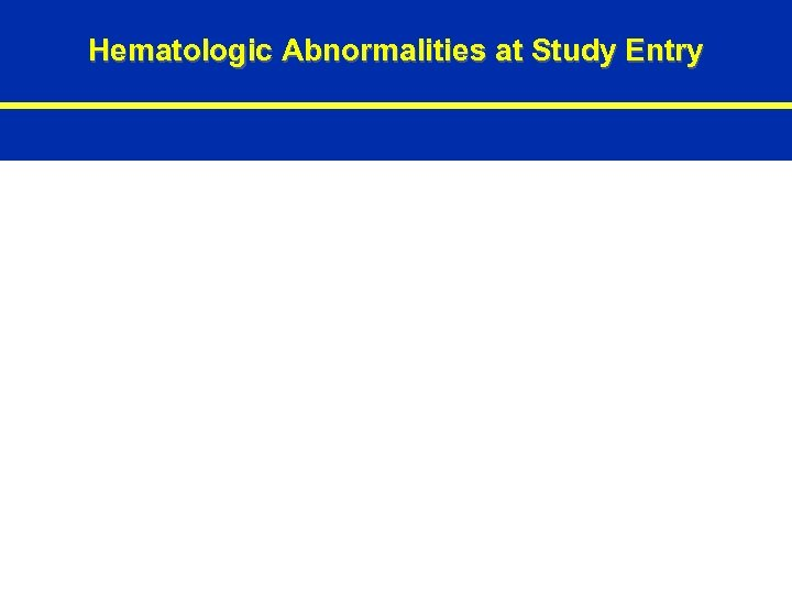 Hematologic Abnormalities at Study Entry 78