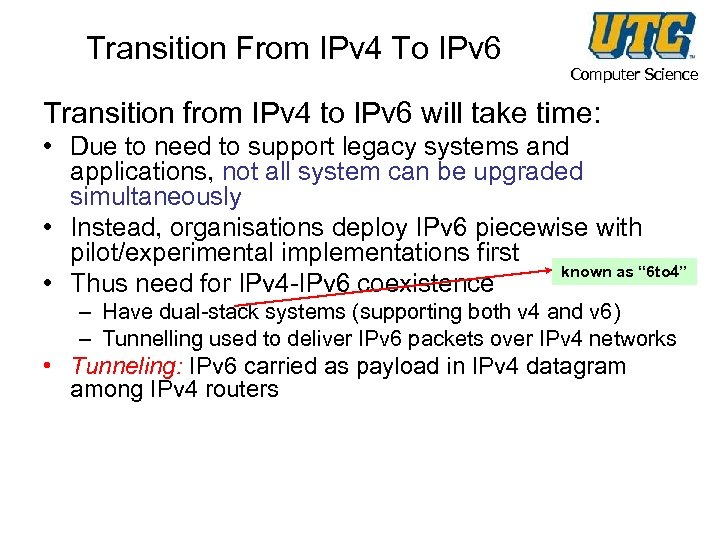 Transition From IPv 4 To IPv 6 Computer Science Transition from IPv 4 to