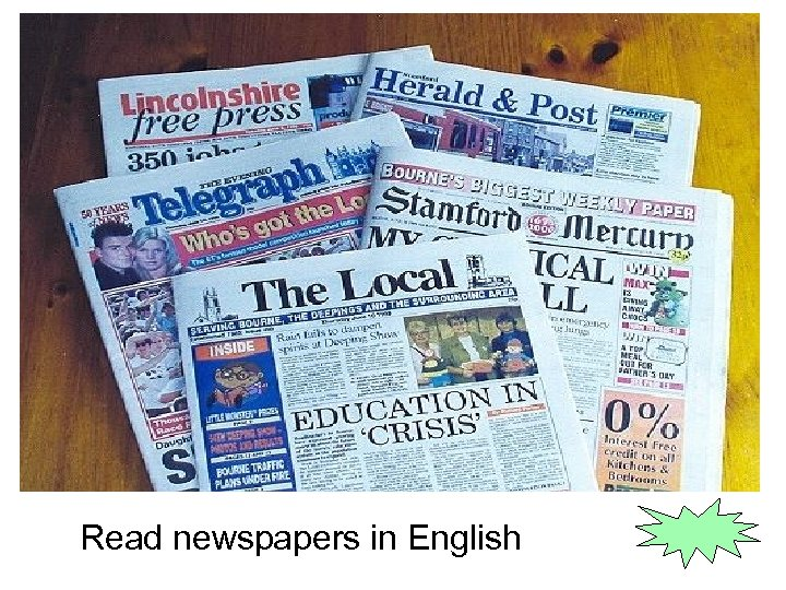 Read newspapers in English