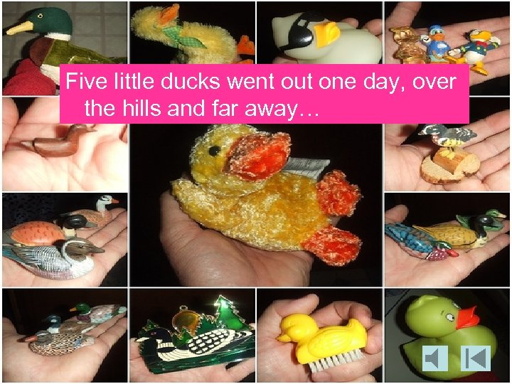 Five little ducks went out one day, over the hills and far away…