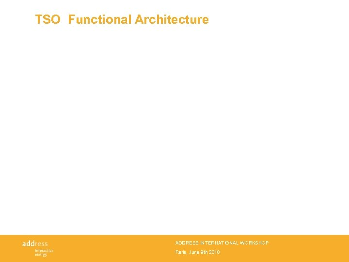 TSO Functional Architecture ADDRESS INTERNATIONAL WORKSHOP Paris, June 9 th 2010