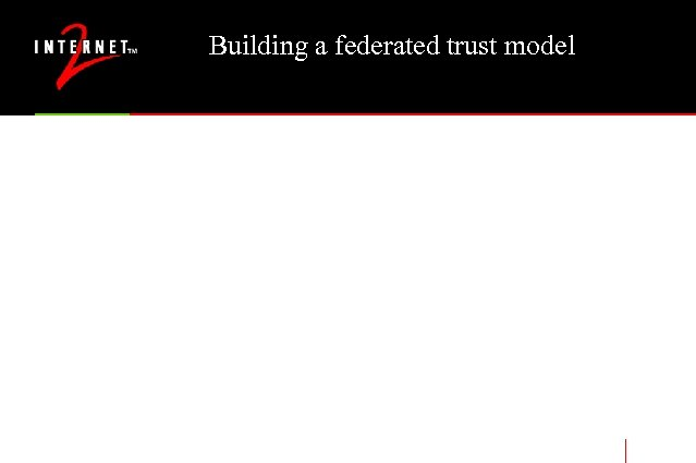 Building a federated trust model