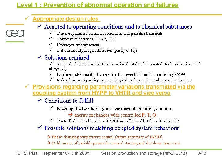Level 1 : Prevention of abnormal operation and failures ü Appropriate design rules ü