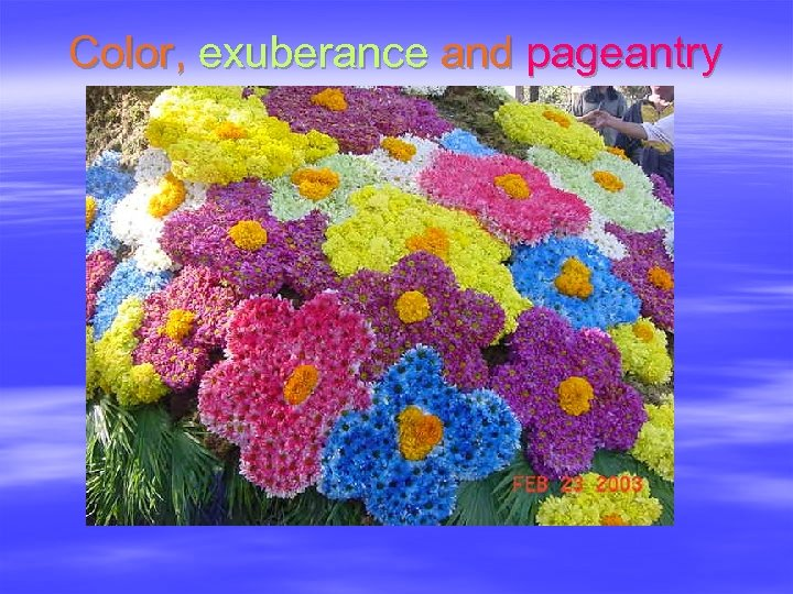Color, exuberance and pageantry
