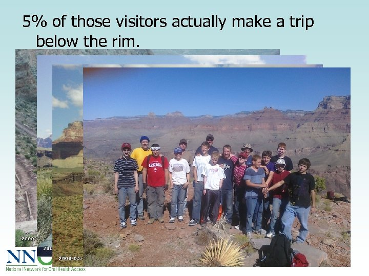 5% of those visitors actually make a trip below the rim.
