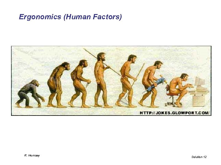Ergonomics (Human Factors) R. Hornsey Solution 12