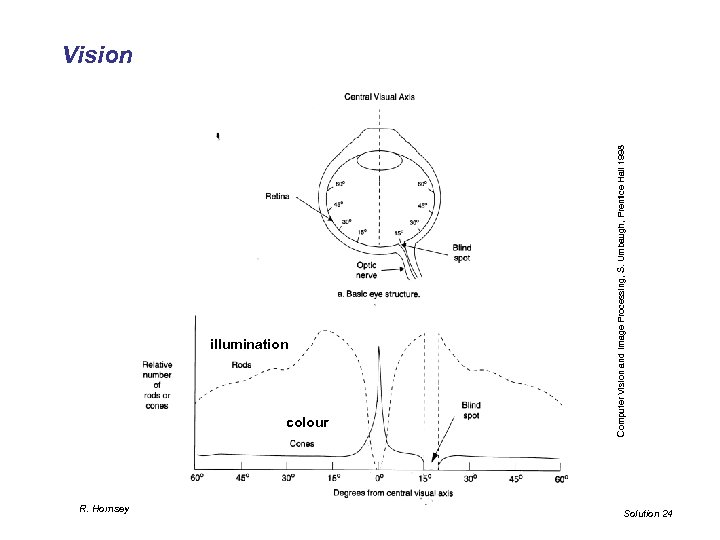illumination colour R. Hornsey Computer Vision and Image Processing, S. Umbaugh, Prentice Hall 1998