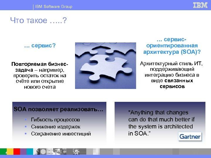 IBM Software Group Что такое …. . ? … сервис? … сервисориентированная архитектура (SOA)?