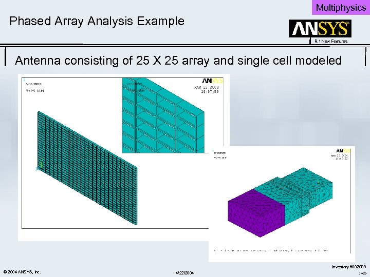 8 1 New Features ANSYS Release 8 1