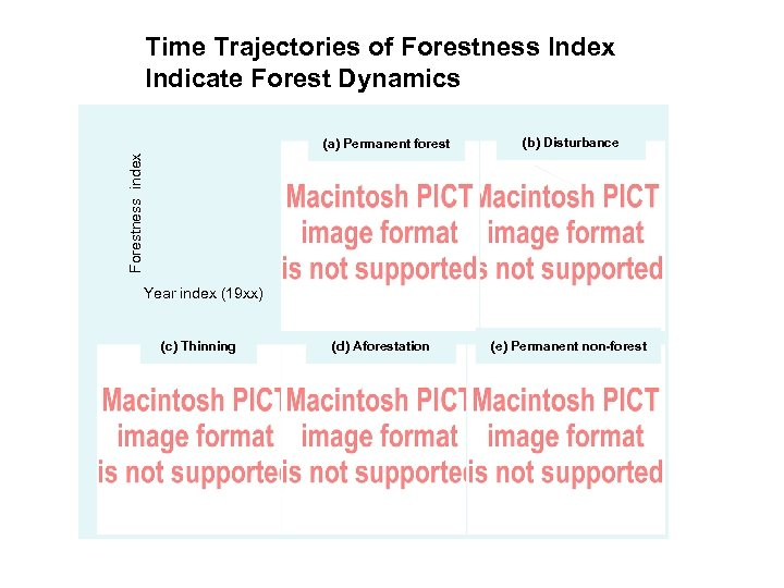 Time Trajectories of Forestness Index Indicate Forest Dynamics (b) Disturbance Forestness index (a) Permanent