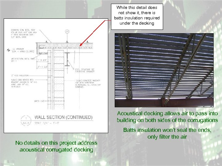 While this detail does not show it, there is batts insulation required under the