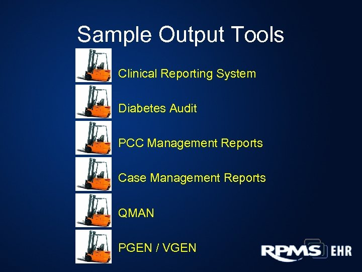 Sample Output Tools Clinical Reporting System Diabetes Audit PCC Management Reports Case Management Reports