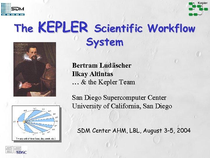 The KEPLER Scientific Workflow System Bertram Ludäscher Ilkay Altintas … & the Kepler Team