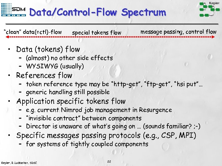 "Data/Control-Flow Spectrum ""clean"" data(=ctl)-flow special tokens flow message passing, control flow • Data (tokens)"