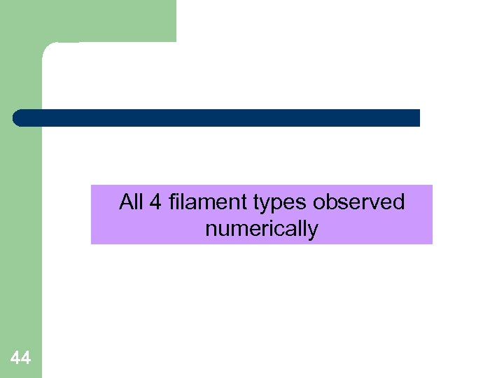 All 4 filament types observed numerically 44