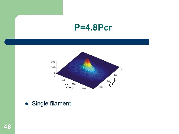 P=4. 8 Pcr l 46 Single filament