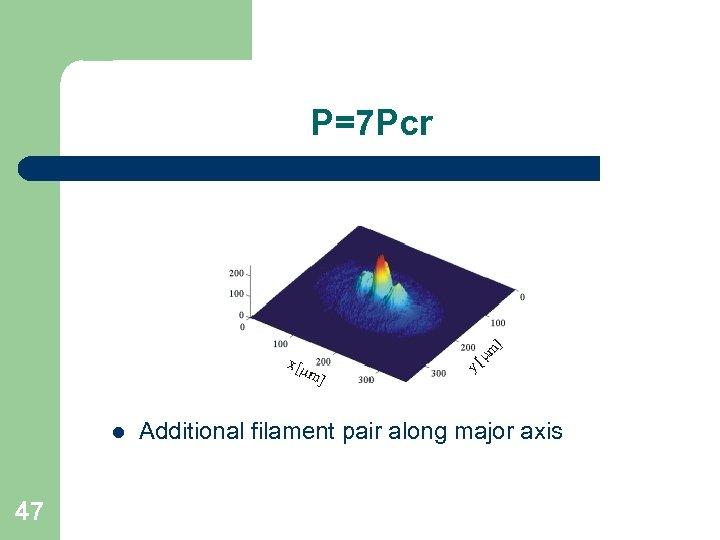 P=7 Pcr l 47 Additional filament pair along major axis