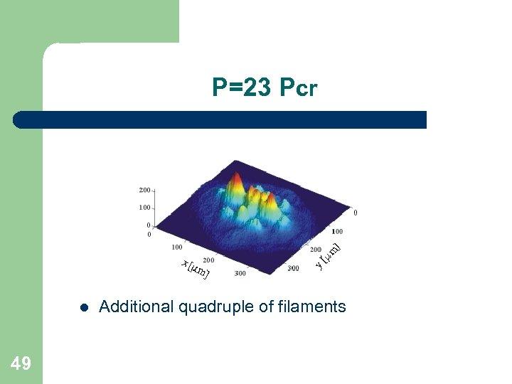 P=23 Pcr l 49 Additional quadruple of filaments