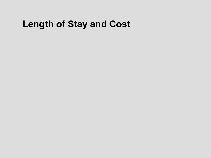 Length of Stay and Cost