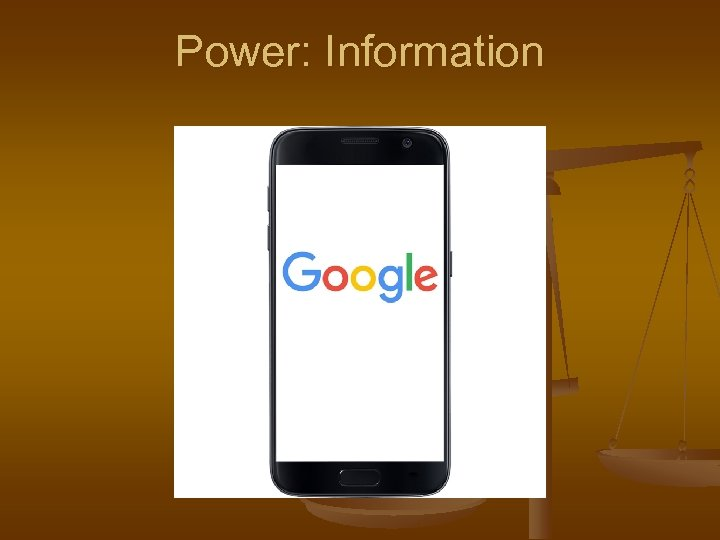 Power: Information