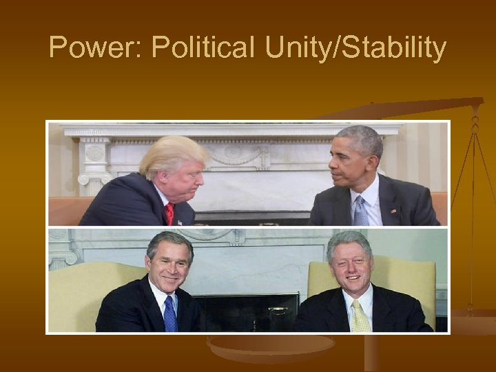 Power: Political Unity/Stability