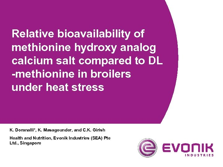 Relative bioavailability of methionine hydroxy analog calcium salt compared to DL -methionine in broilers