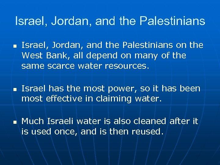 Israel, Jordan, and the Palestinians n n n Israel, Jordan, and the Palestinians on
