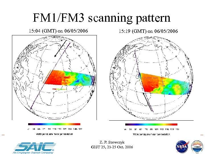 FM 1/FM 3 scanning pattern 15: 04 (GMT) on 06/05/2006 15: 19 (GMT) on