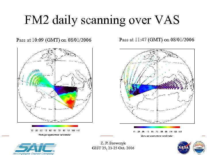 FM 2 daily scanning over VAS Pass at 10: 09 (GMT) on 08/01/2006 Pass