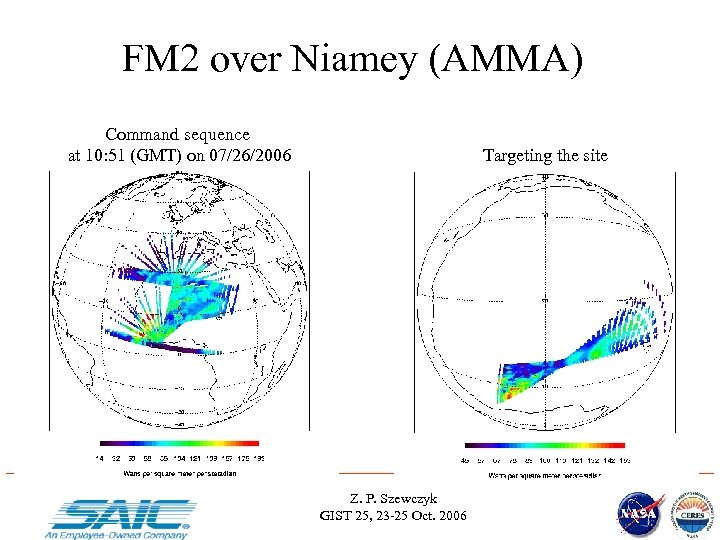 FM 2 over Niamey (AMMA) Command sequence at 10: 51 (GMT) on 07/26/2006 Targeting