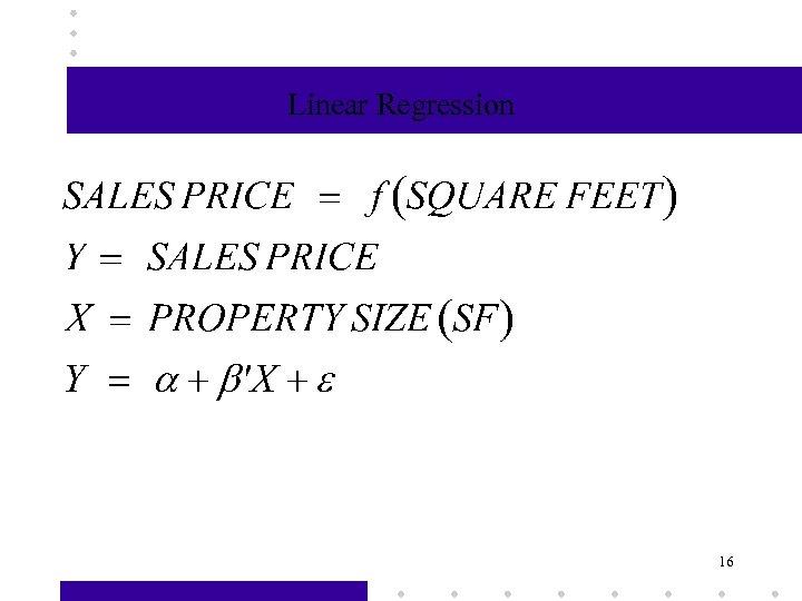 Linear Regression 16