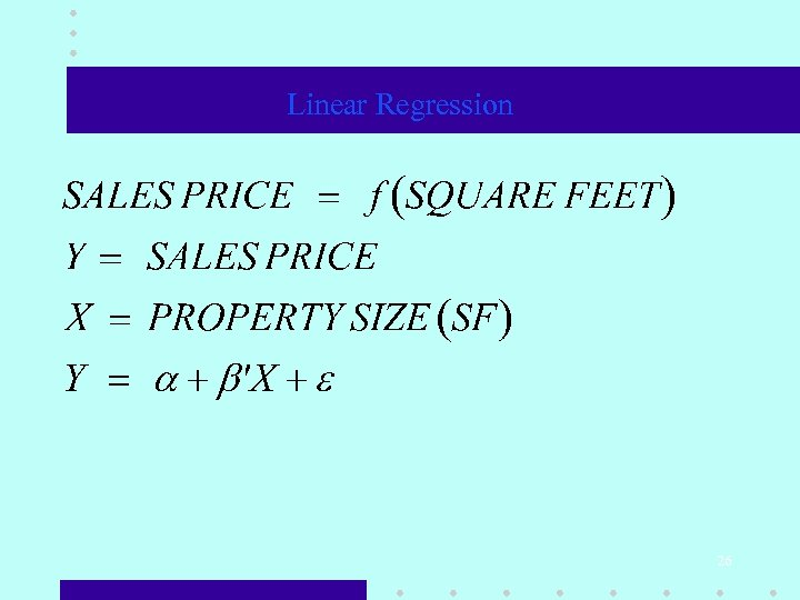 Linear Regression 26