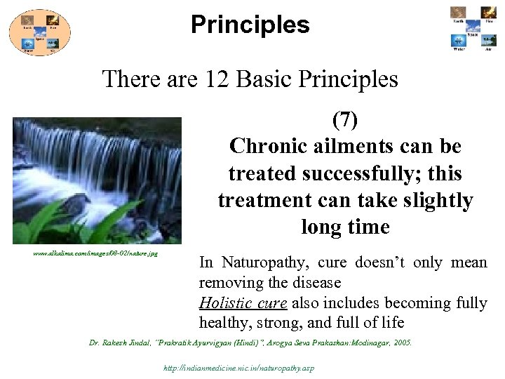 Principles There are 12 Basic Principles (7) Chronic ailments can be treated successfully; this