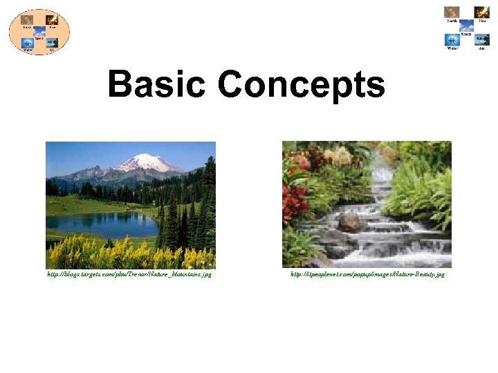 Basic Concepts http: //blogs. targetx. com/pbu/Trevor/Nature_Mountains. jpg http: //itpeoplenet. com/popup/images/Nature-Beauty. jpg