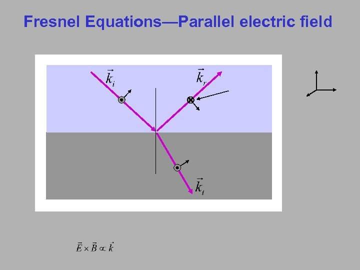 Fresnel Equations—Parallel electric field