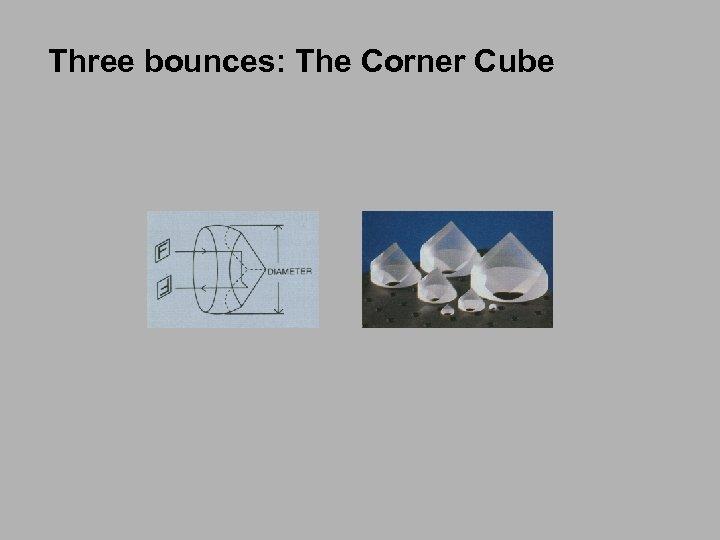 Three bounces: The Corner Cube