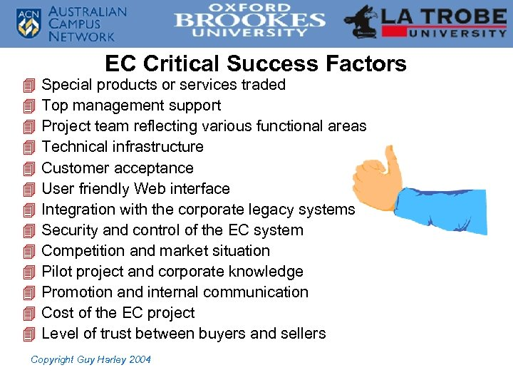 4 4 4 4 EC Critical Success Factors Special products or services traded Top