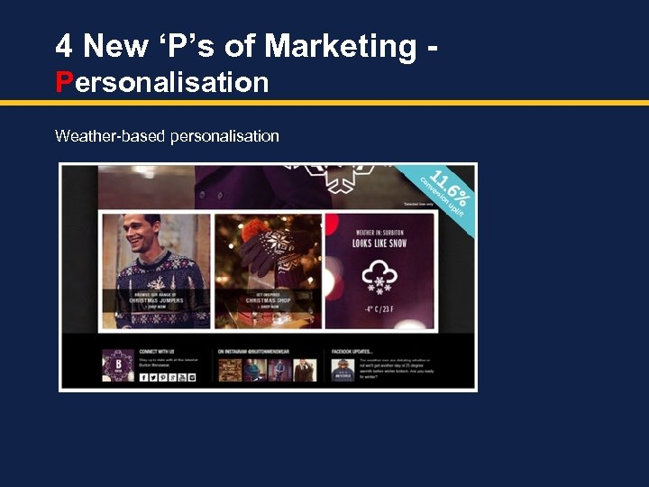 4 New 'P's of Marketing Personalisation Weather-based personalisation