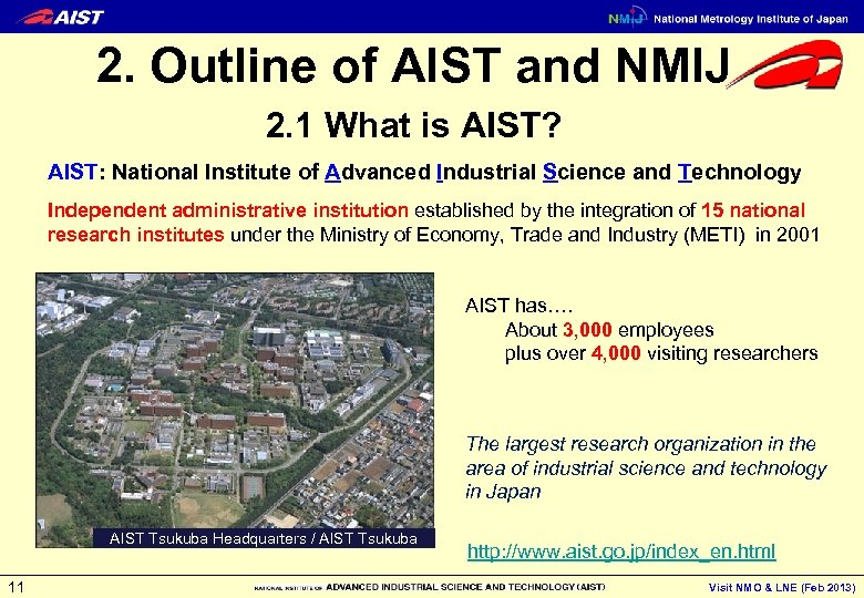 2. Outline of AIST and NMIJ 2. 1 What is AIST? AIST: National Institute