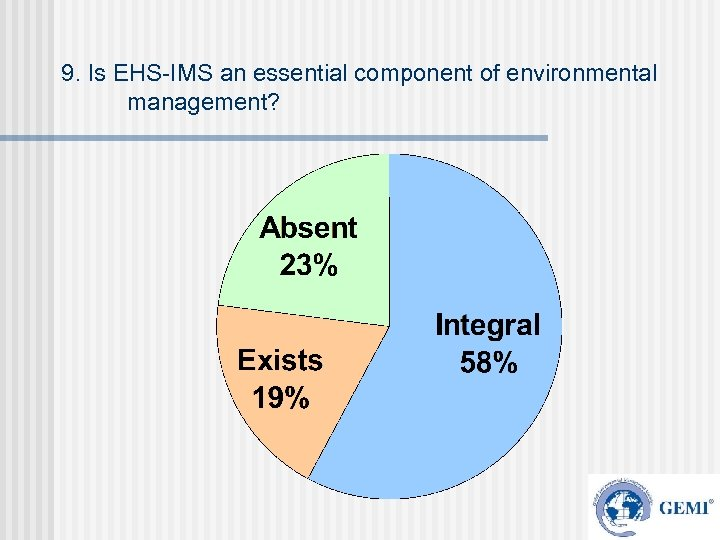9. Is EHS-IMS an essential component of environmental management?