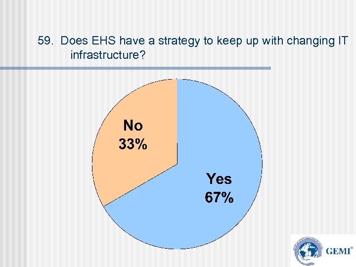 59. Does EHS have a strategy to keep up with changing IT infrastructure?