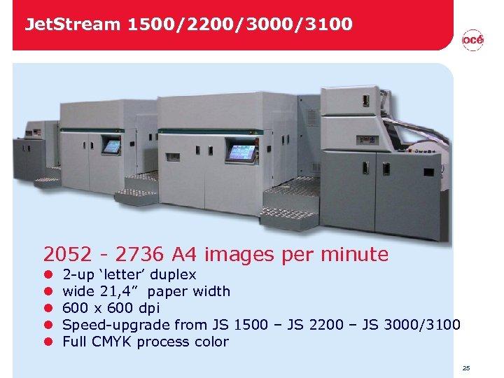 Jet. Stream 1500/2200/3000/3100 2052 - 2736 A 4 images per minute l l l