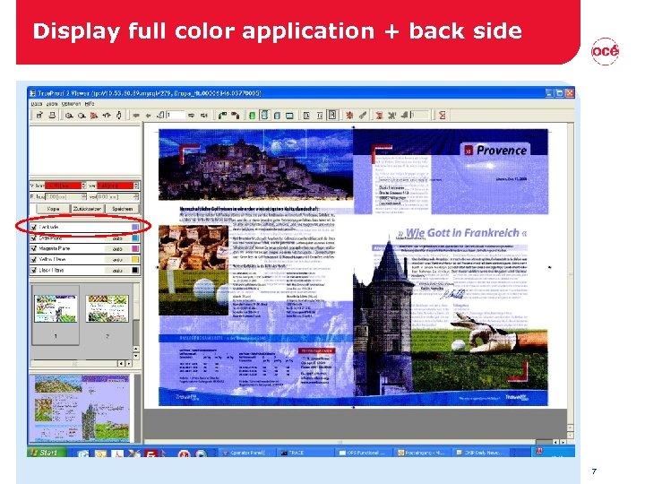 Display full color application + back side 7