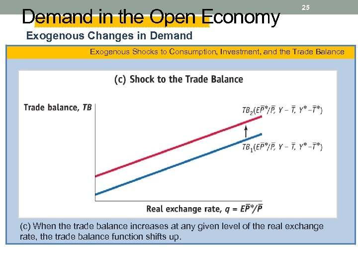 Demand in the Open Economy 25 Exogenous Changes in Demand Exogenous Shocks to Consumption,