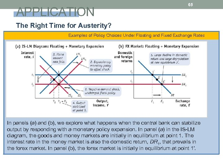APPLICATION 65 The Right Time for Austerity? Examples of Policy Choices Under Floating and