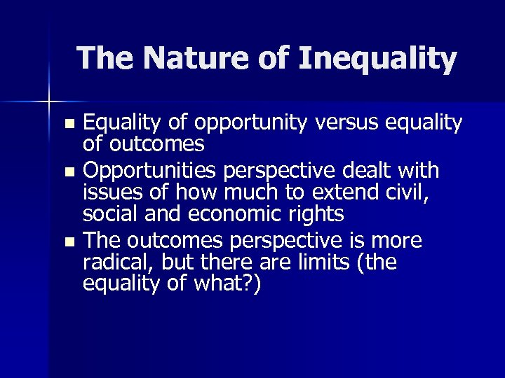 poverty vs equality and the foreclosure crisis Commodity-based poverty, still described as 'the social question' in the nineteenth century, led to the welfare state and its income and employment policy after the world economic crisis of 1929 precisely this view of poverty, influenced by keynes and the new.