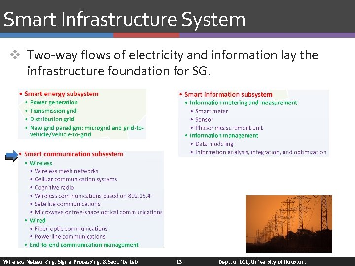 Smart Infrastructure System v Two-way flows of electricity and information lay the infrastructure foundation